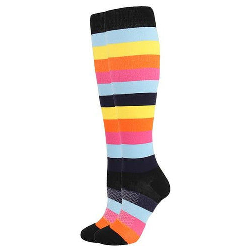 Rainbow Compression Socks for Men and Women 15-20 mmHg - SqueezeGear