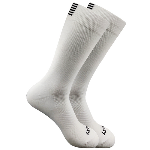 SqueezeGear Ankle Compression Socks (White) - SqueezeGear