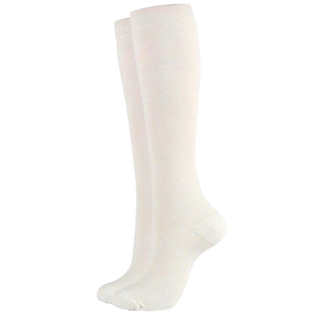 White Compression Socks for Men and Women 15-20 mmHg - SqueezeGear
