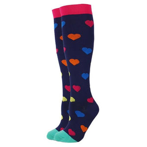 Heart Compression Socks for Men and Women 15-20 mmHg - SqueezeGear