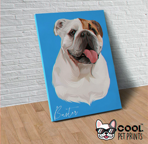 Custom Toon Wall Art Canvas - Signed Pet Name - CoolPetPrints