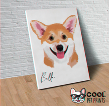 Load image into Gallery viewer, Custom Toon Wall Art Canvas - Signed Pet Name - CoolPetPrints