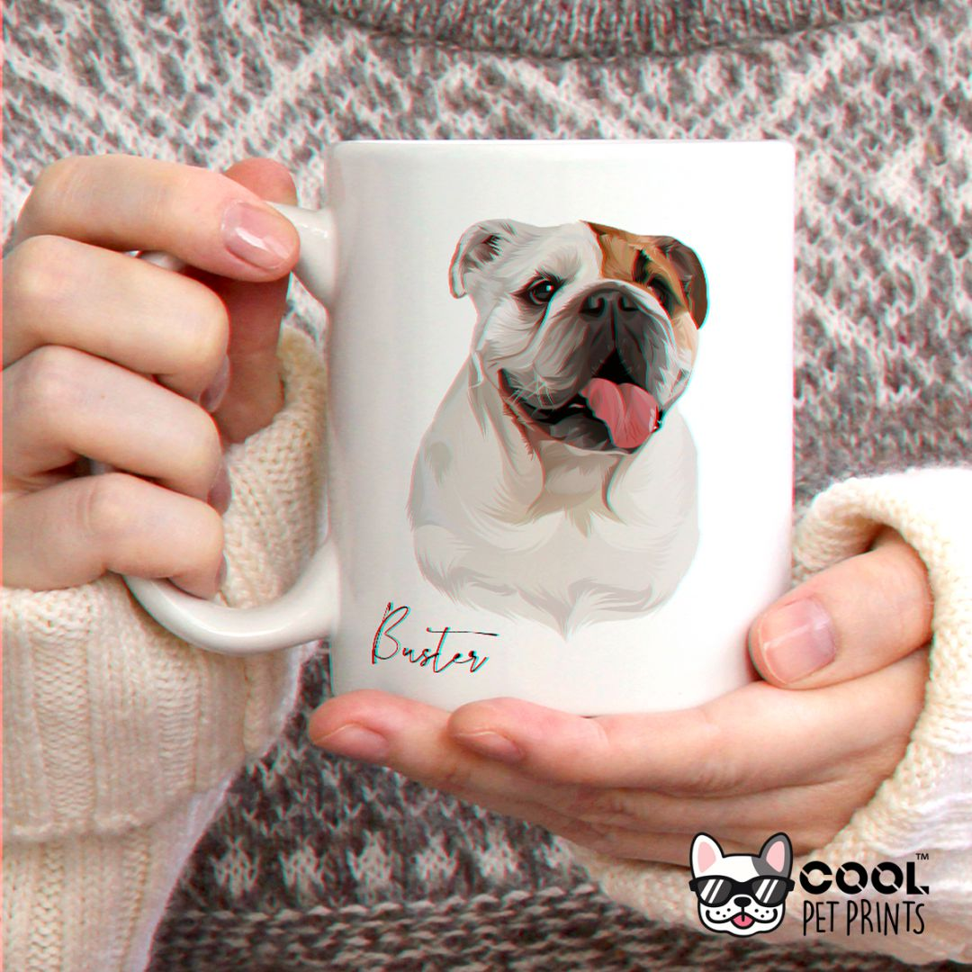 Pet Portrait Signed Name - Custom Mug - CoolPetPrints