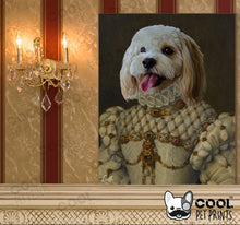 Load image into Gallery viewer, Custom Royal Pet Wall Art Canvas - Limited Edition Print - CoolPetPrints