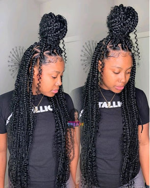 Braided Wigs Lace Frontal Hair Wedding Hairstyles For Long Hair Wet And Wavy Bundles Brazilian Virgin Hair Box Braids With Marley Hair Body Wave Hair Bundles