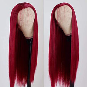 Red Wigs Lace Frontal Wigs 99J Color Red And Green Wig Brown And Red Hair Blue Pixie Wig Red Orange Hair