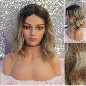 Wavy Sandy Blonde Wig, Deep Loose Waves, HEAT SAFE, Natural wig for everyday use and for Cosplay