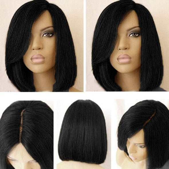 Lace Frantal Bob Wigs Black Wig For African American Women The Same As The Hairstyle In The Picture
