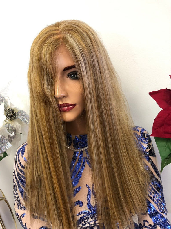"Terini Blond Highlights SWISS Lace Front Wig 14"" 1218 10"