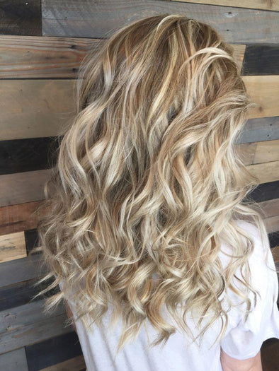 Curly Hair With Highlights And Lowlights - hair coloring -