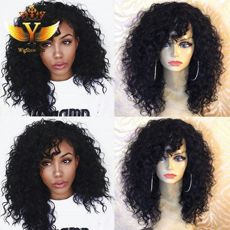 Curly Wigs Lace Frontal Wigs Short Curly