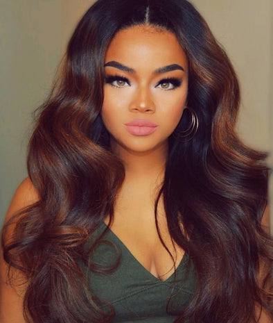 Black Wave Lace Front Wigs 360 Brazilian Wig