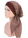 Women's Elastic Hair with Headscarf Cap Pirate Cap with Rural Wind Cotton Chemotherapy Cap