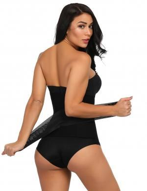 Body Shaper High Quality Black Big Size Stylish Nude Lace Steel Waist Layers Slimming Stomach