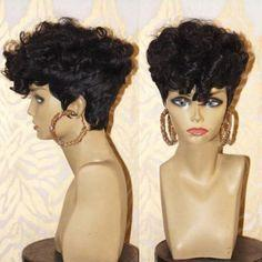 Short Wigs For Black Women charming black front lace short curly wig