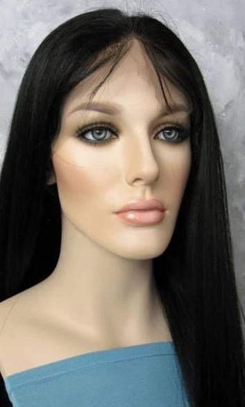 Lace Front Hair Wigs black to white wig