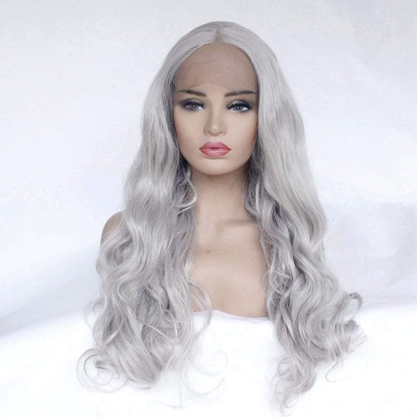 White Wig Cosplay Hair lace Front Wig Lace Wig Cosplay Wig Long Curly Wig Party Wig Lady Wig Heat Resistant Wig