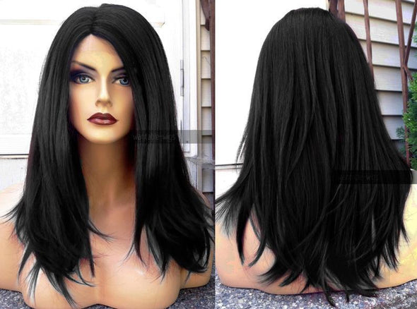 Lace Front Hair Wigs Long natural wigs for black women