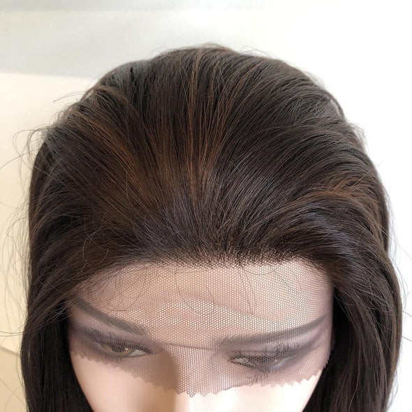 Lace Front Hair Wigs blonde black roots