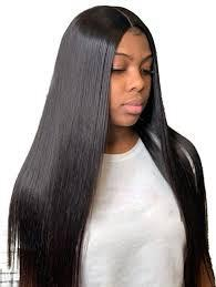 Lace Front Hair Wigs medium length Straight wigs african american