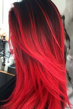 Black And Red >> Dark Red Hair Color Cherry Ombre Hair Red Pompadour Wig Black And Red Ombre Hair Orange Ginger Hair Red Hair Dye For Black Hair