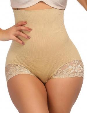 Body Shaper High Waist Plus Size Butt Enhancer Panty Basic Shaping Cut Out Lace Butt Lifters  1