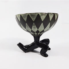 Black Ceramic Goblet