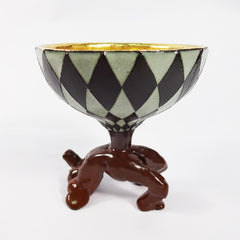 Brown Ceramic Goblet