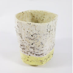 Yellow/White Ceramic Cup