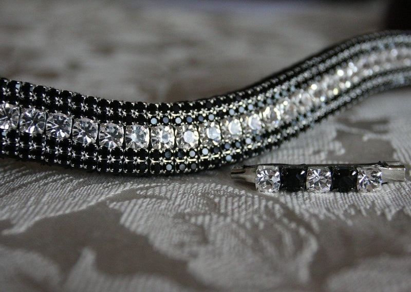 Clear and jet megabling curve browband