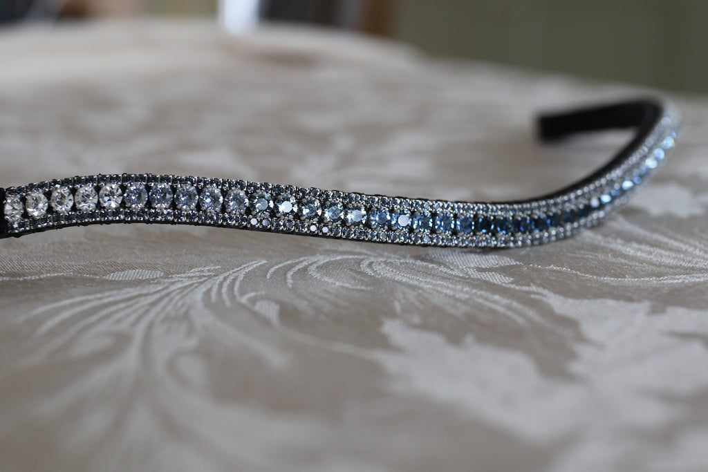 Montana blue tiffany fade crystal browband