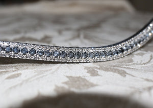 Equiture Nightfall and black diamond crystal browband