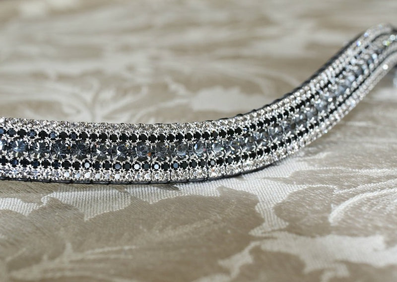 Nightfall, jet and black diamond curve megabling browband