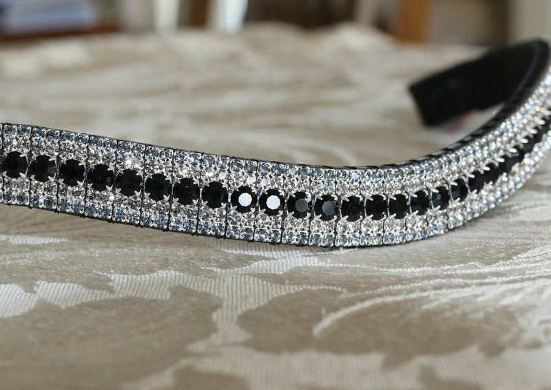 Jet, black diamond and nightfall curve megabling browband