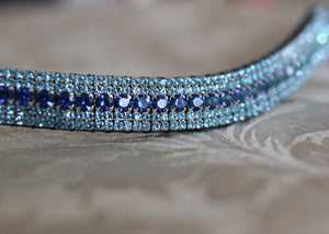 Bermuda blue and aqua megabling curve browband