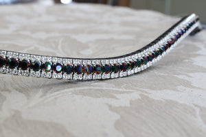 Swarovski Rainbow dark with clear crystal browband