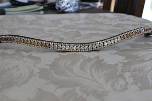 Swarovski tiffany gold fade browband