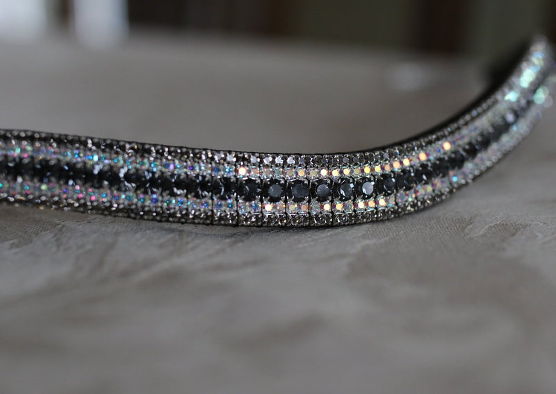 Nightfall, irdescent and black diamond curve megabling browband