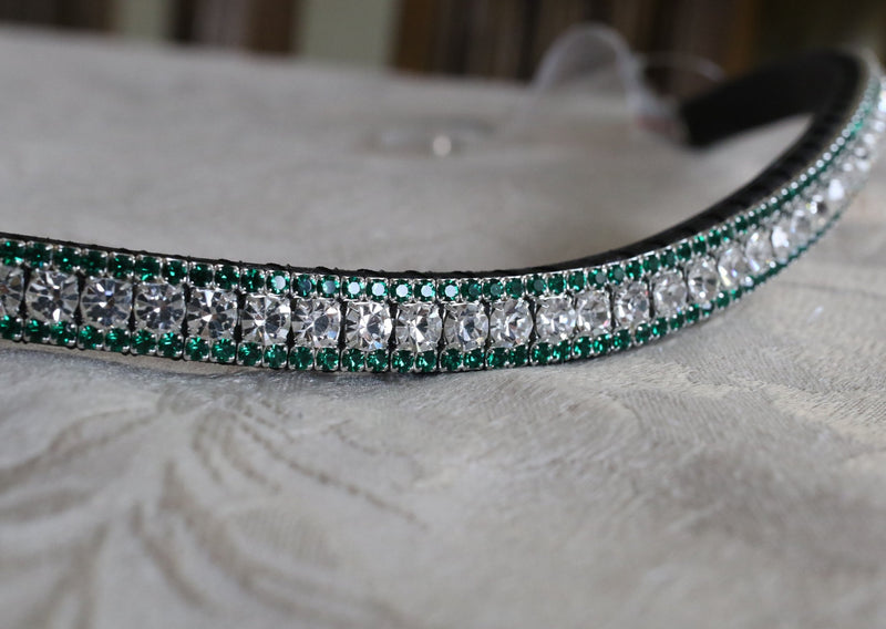 Clear and emerald browband