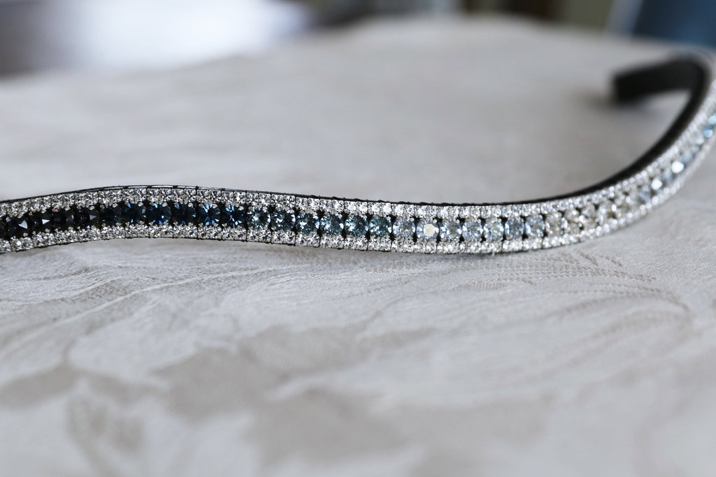 Swarovski tiffany Indian sapphire fade browband