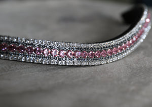Light rose, nightfall and clear megabling curve browband