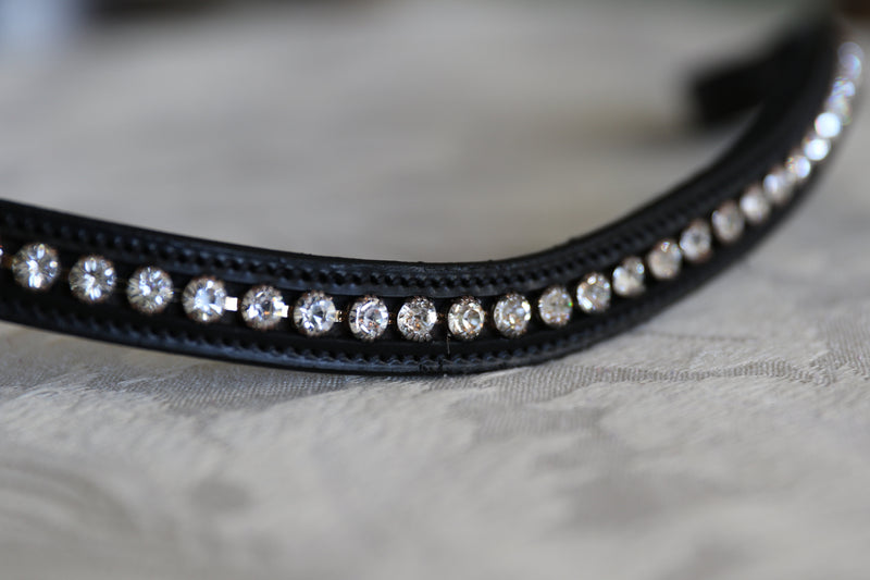 Swarovski clear tiffany inset browband
