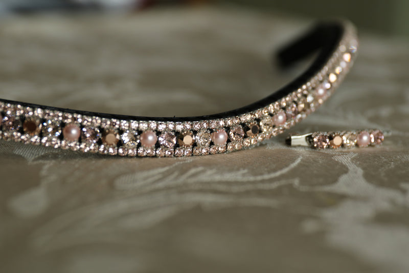 Swarovski tiffany rose gold browband