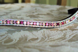 Swarovski tiffany pink unicorn browband