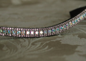 Iridescent and light amethyst browband