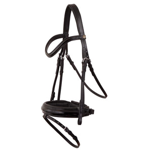 Black patent comfort bridle  *browband not included*