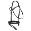 Black shaped noseband snaffle bridle (Browband not included)