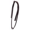 Black patent rolled double bridle *without browband*