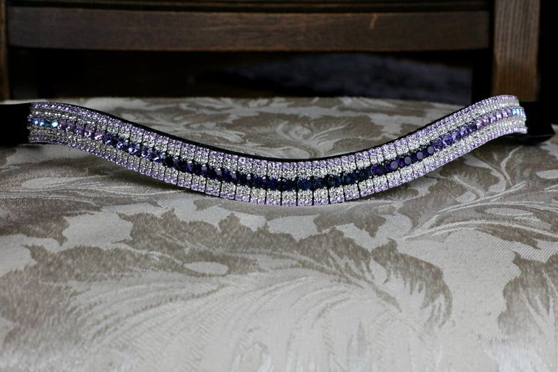 Montana, clear and blue zircon browband - Full, curve, havana
