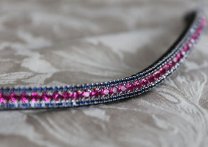 Fuchsia and Montana browband
